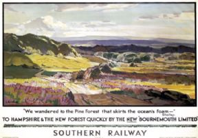 To Hampshire & The New Forest. Vintage SR Travel poster by L Richmond. 1938